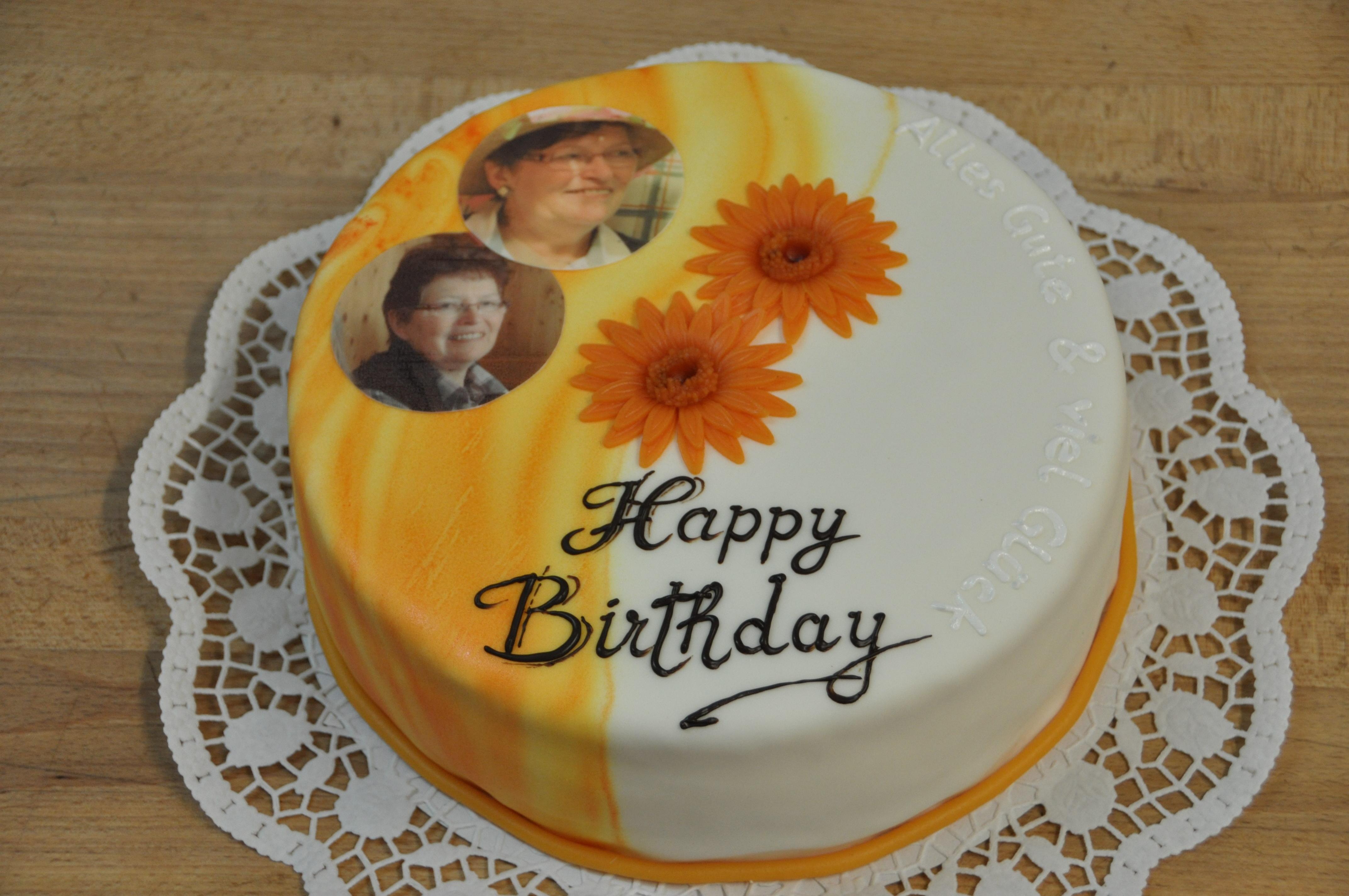 Geburtstagstorte mit Blumen