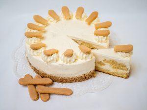 aufgeschnittene Malakoff Torte