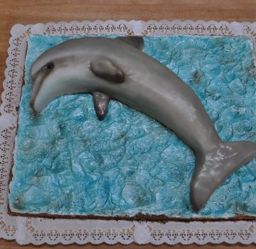 Delphin Geburtstagstorte