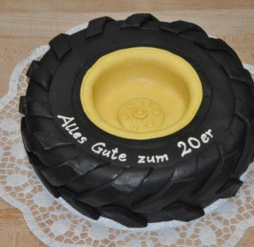 Reifen Geburtstagstorte