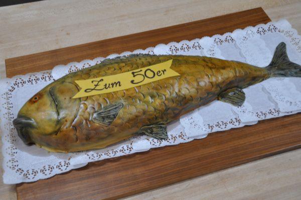 Fisch als Geburtstagstorte